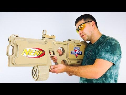 How to Make NERF Elite HyperFire GUN from Cardboard