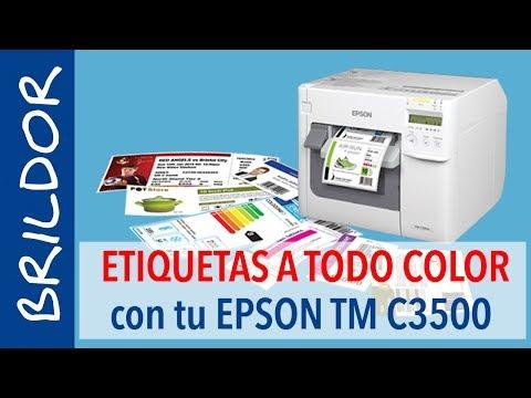 Imprimir etiquetas a todo color con la EPSON TM C3500