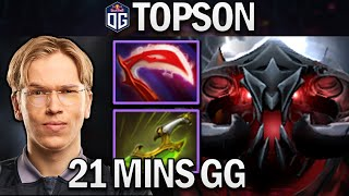 OG.TOPSON SHADOW FIEND - 21 MÏNS GG - DOTA 2 7.28 GAMEPLAY