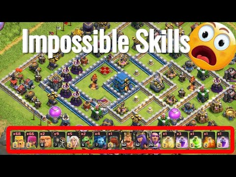 WTF Attack😂😂 Max Barbarian Archer Impossible Destroy 3 star Th12 | Clash Of Clans