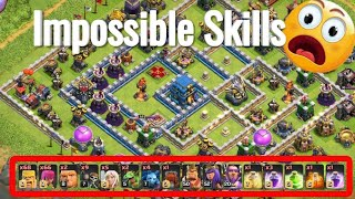 WTF Attack😂😂 Max Barbarian Archer Impossible Destroy 3 star Th12   Clash Of Clans