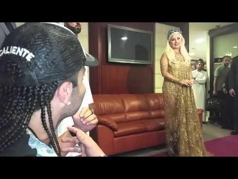 Lady Gaga Arrives in Dubai