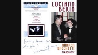 Andrea Bacchetti - Luciano Berio Interview & 6 Encores