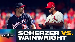 EPIC DUEL: Nationals' Max Scherzer vs. Cardinals' Adam Wainwright | NLCS Game 2 | MLB Highlights