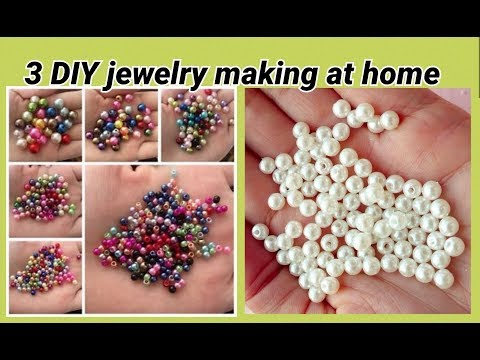 3 DIY jewelry making with beads at home