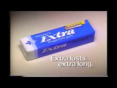 Extra Sugar Free Gum Commercial 1986 Doovi