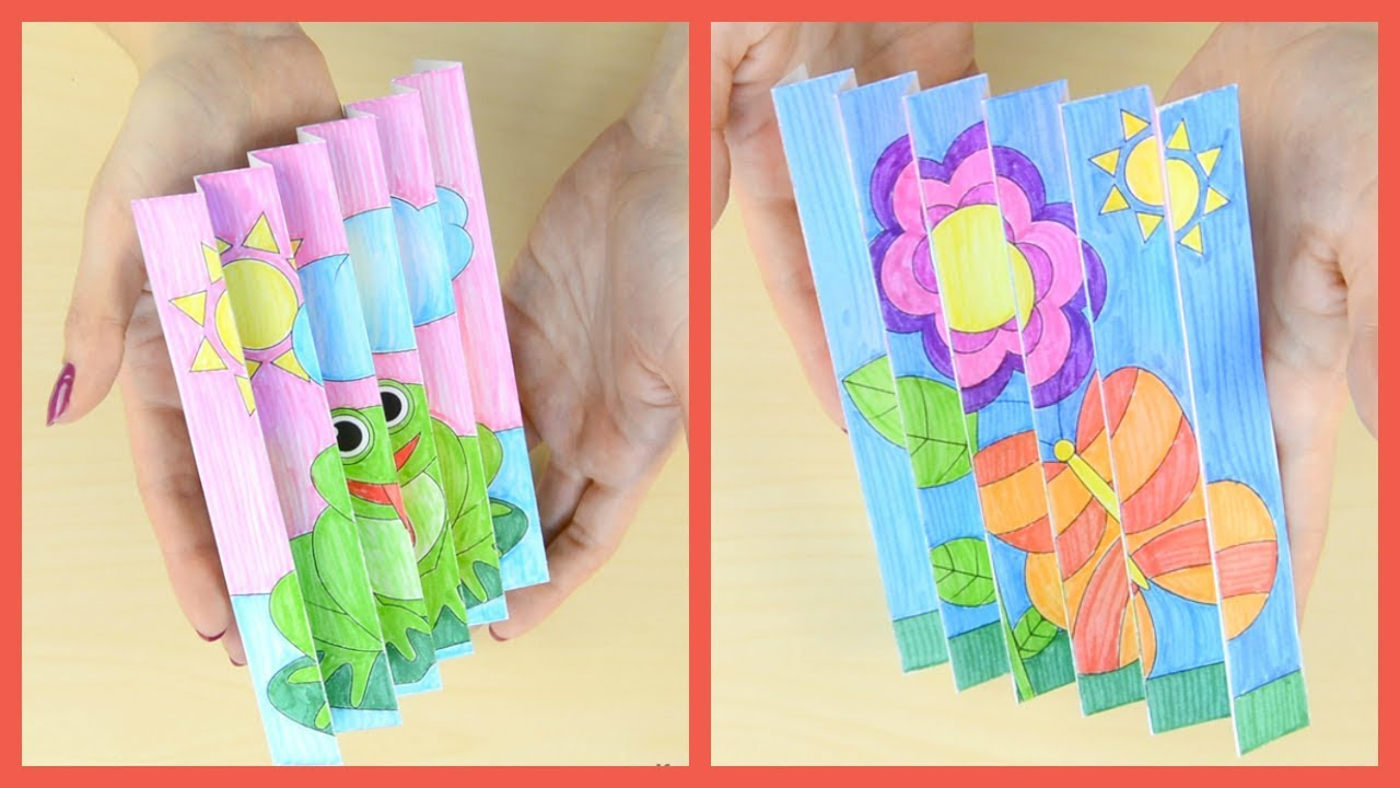Spring Agamograph Paper Craft Spring Crafts For Kids Youtube