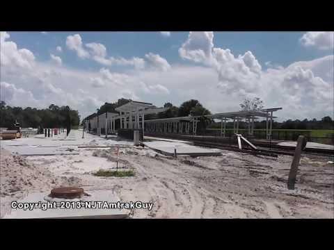 Florida Vacation! Sunrail Corridor DeBary Station construction progress