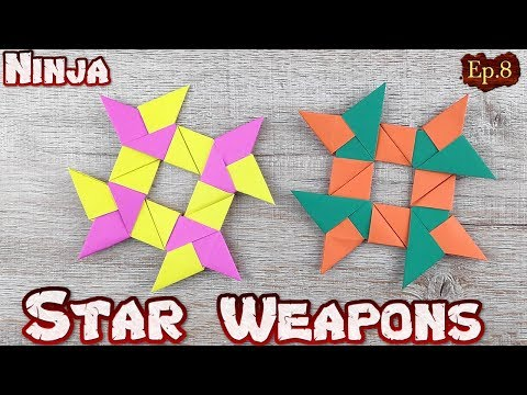 Ninja Star Origami   How To Making a Ninja Weapons Paper Tutorials   DIY Paper Blade Shuriken Ep.8