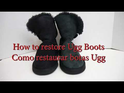 how to restore ugg boots