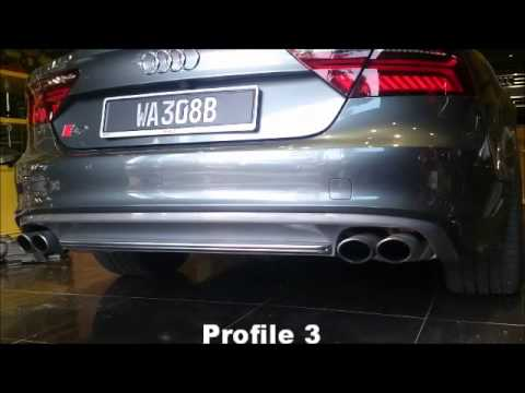 audi exhaust active sound booster at s7 exhaust youtube. Black Bedroom Furniture Sets. Home Design Ideas