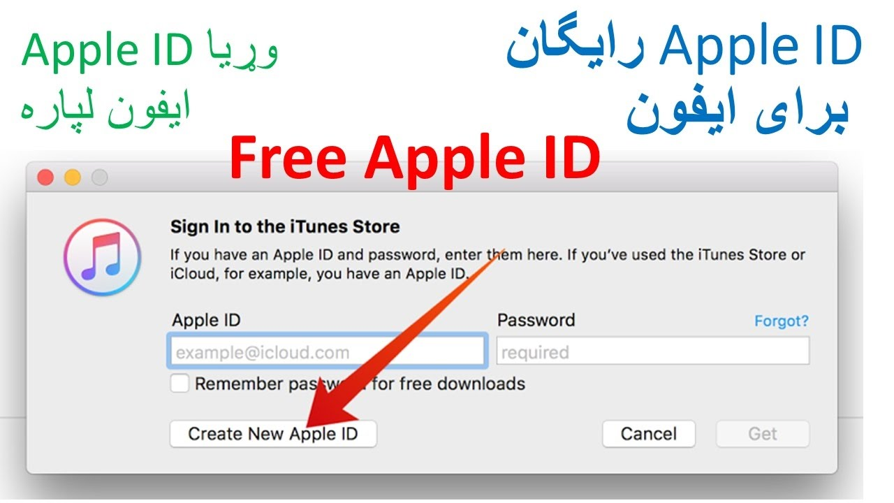 apple iphone id create free