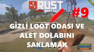 Ev Tasarımı ( Base Design ) Alet Dolabını Saklamak ve Gizli Loot Odası   Rust Türkçe   Bölüm #9