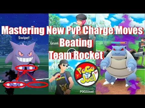 Repeat Mastering New PvP Charge Moves & Beating Team Rocket