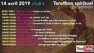 #Tarothonspirituel Les intervenants du Dimanche 14 avril 2019