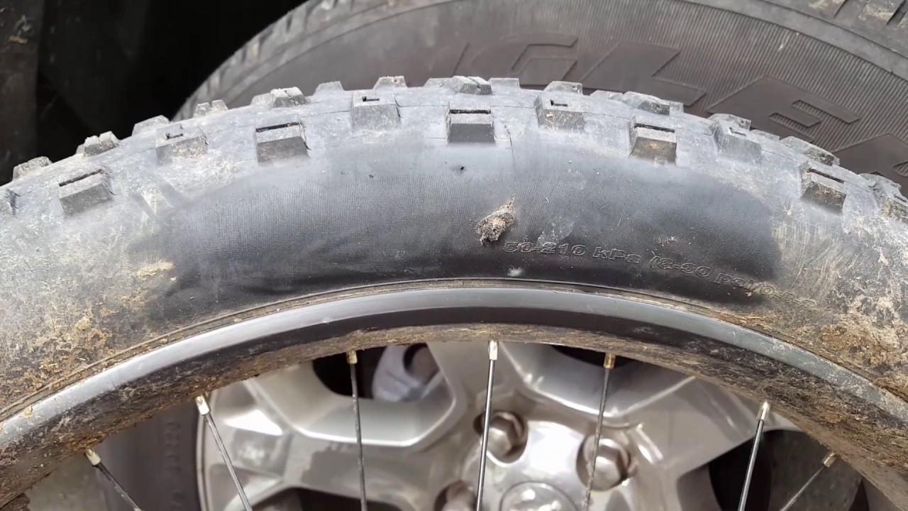 dynaplug tire plugs successfully seal  sidewall cut youtube