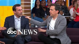 Jon Hamm and Ed Helms open up about