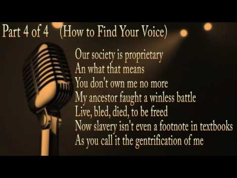 How To Find Your Poetic Voice: Part 4 Of 4: Also Get My New Book: Sane The New Crazy