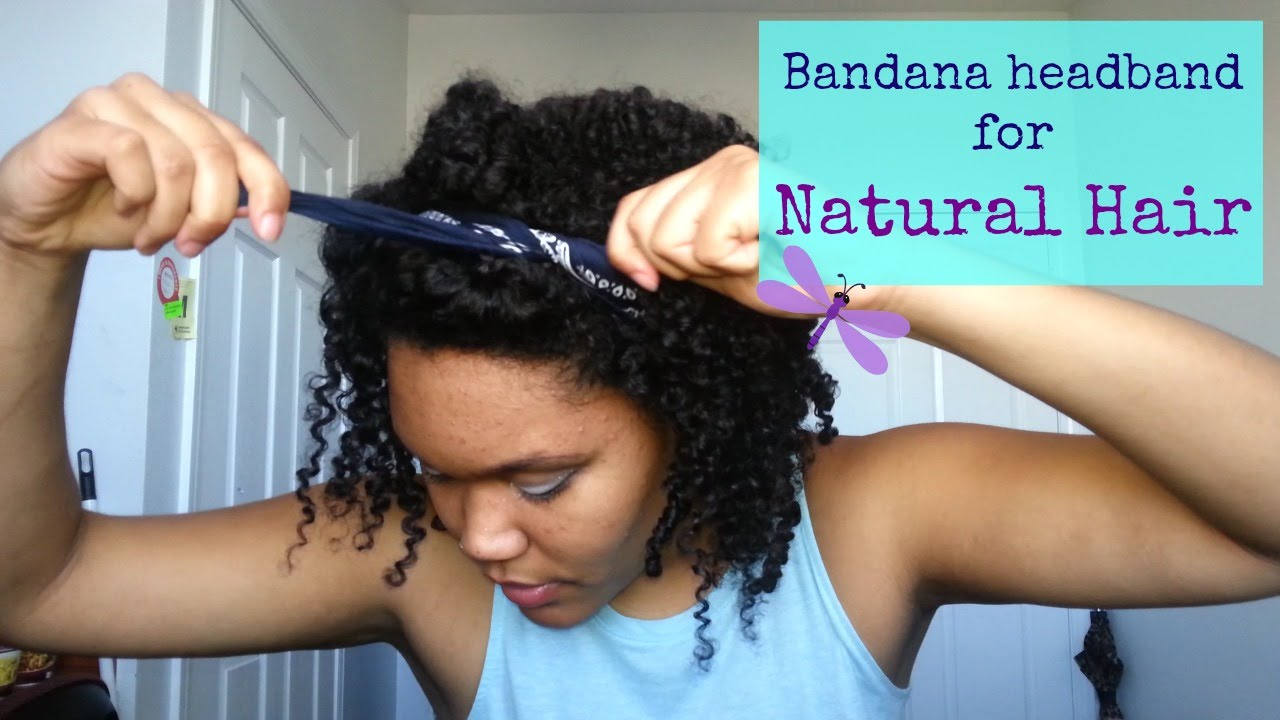 Quick And Easy Bandana Headband Hairstyle For Natural Curly Hair Youtube