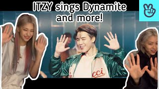 Download lagu [Vlive] ITZY sings BTS' Dynamite, TWICE's More & More, BLACKPINK's How you Like That and more!