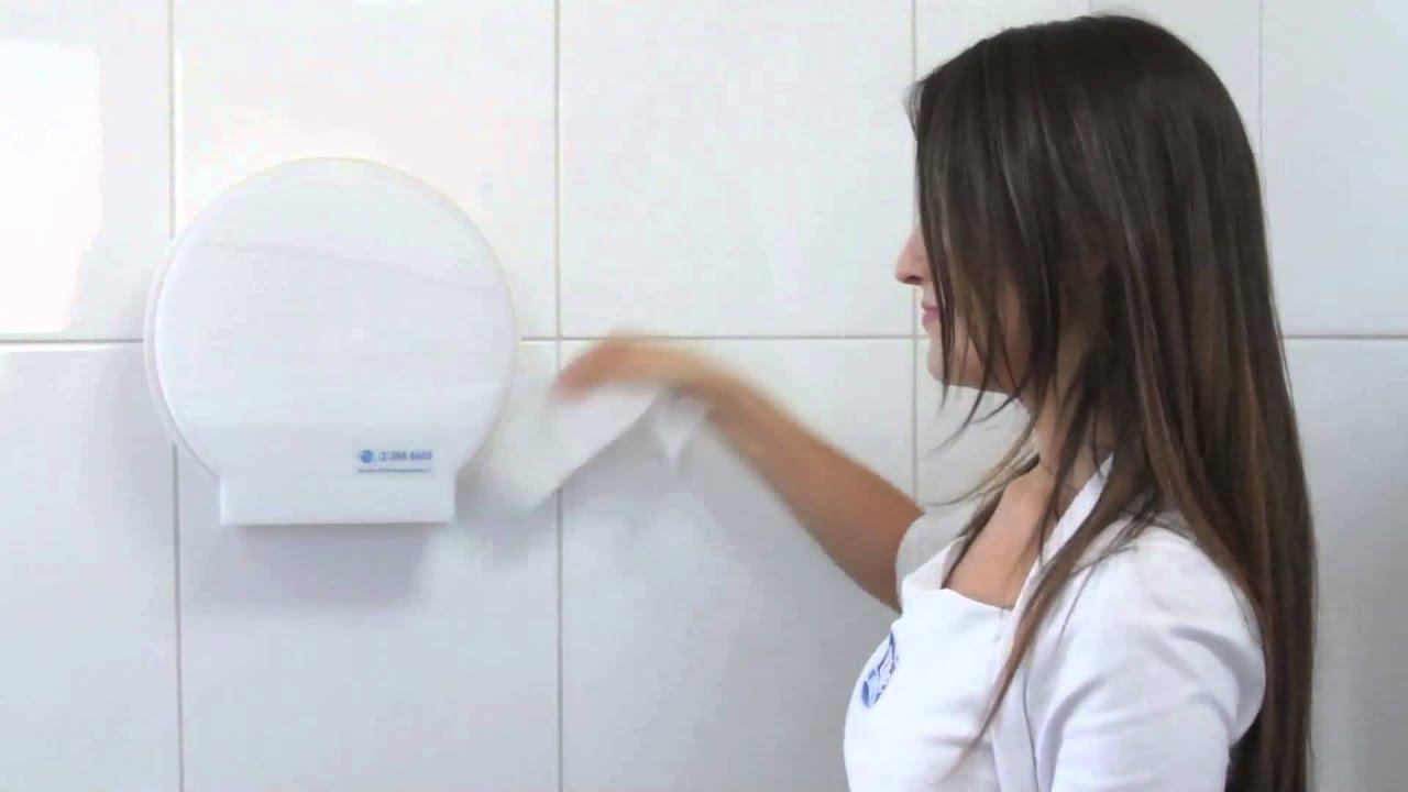 C mo recargar el dispensador de papel higi nico youtube - Dispensador de papel ...