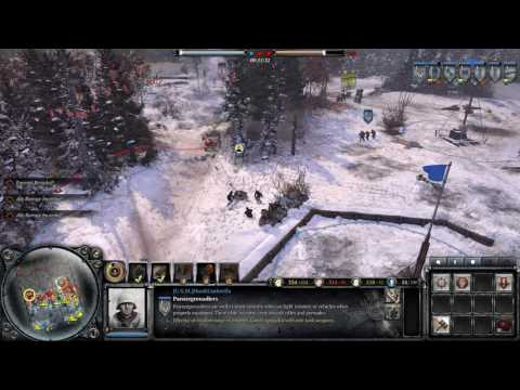 Company of Heroes 2 holding and counter assault with Miss Commissar