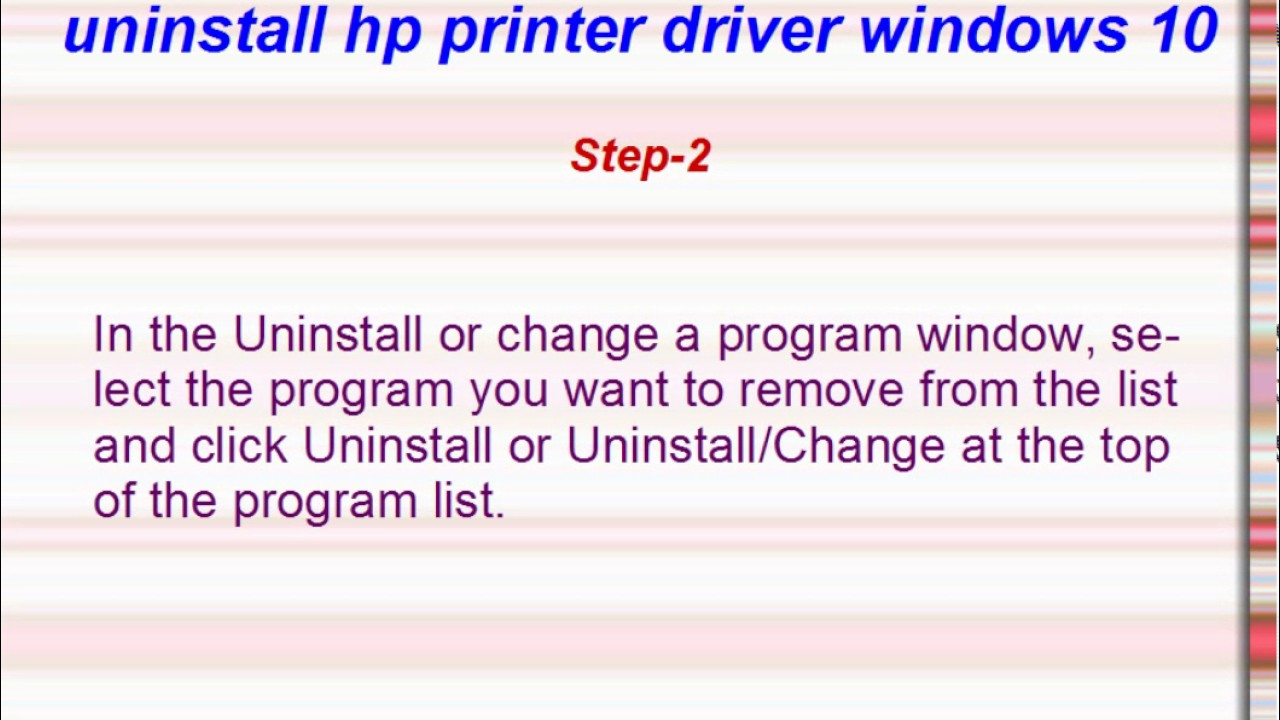 Hp drivers uninstaller