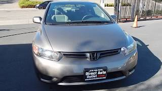 2008 Honda Civic LX Coupe 5 speed manual video overview and walk around.