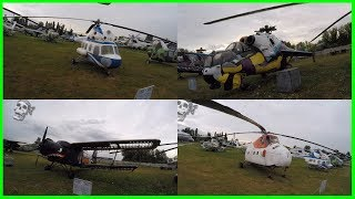 Strange Helicopters and Planes Exploring. Helicopters Collection in Museum of Aviation 2018.