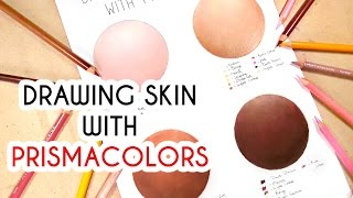 DRAWING SKIN WITH PRISMACOLORS! Coloured Pencil Drawing Tutorial Episode 5