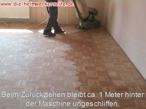 parkett schleifen youtube. Black Bedroom Furniture Sets. Home Design Ideas