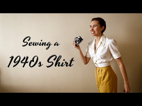 HOW TO SEW A 1940s SHIRT // Vintage Fashion For The Modern Woman
