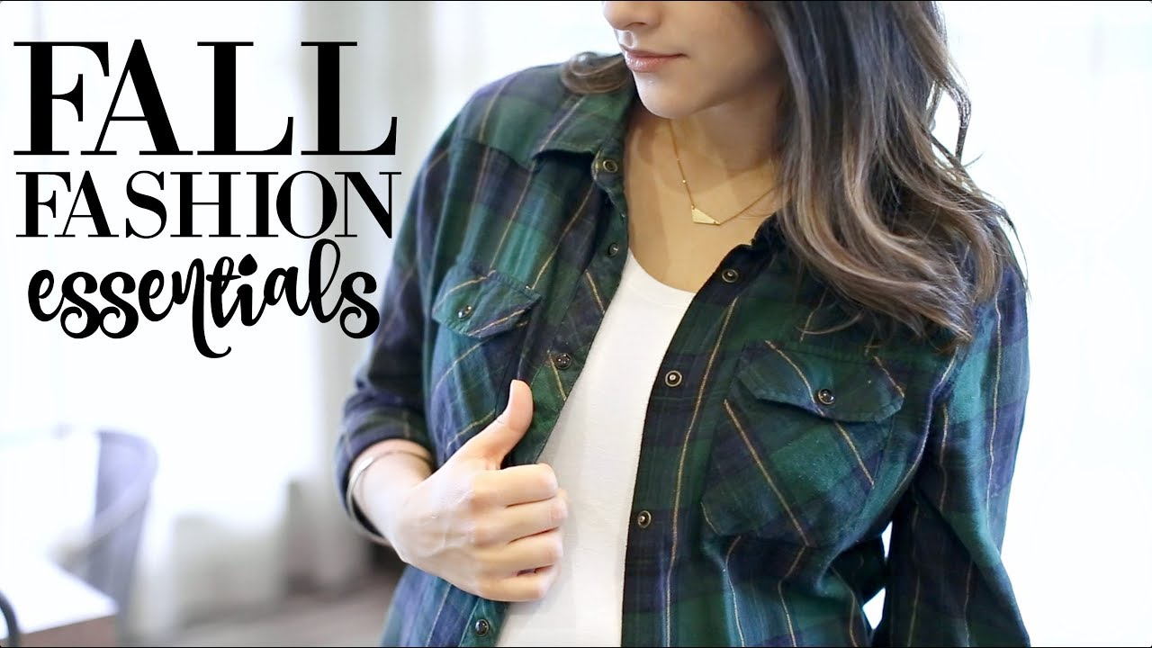 [VIDEO] - Top 7 Fall Fashion Essentials 2017!  + Autumn Outfit Inspiration!Fall Pregnancy Lookbook 2