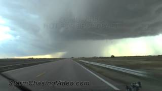 10/14/2013 Dodge City, KS Landspout Tornado, Hail and Heavy rain B-Roll