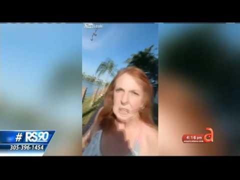 Mujer americana a joven cubano: