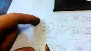 Азы ручной гравировки штихелем.Часть 4 (построение орнамета ,пара слов ).