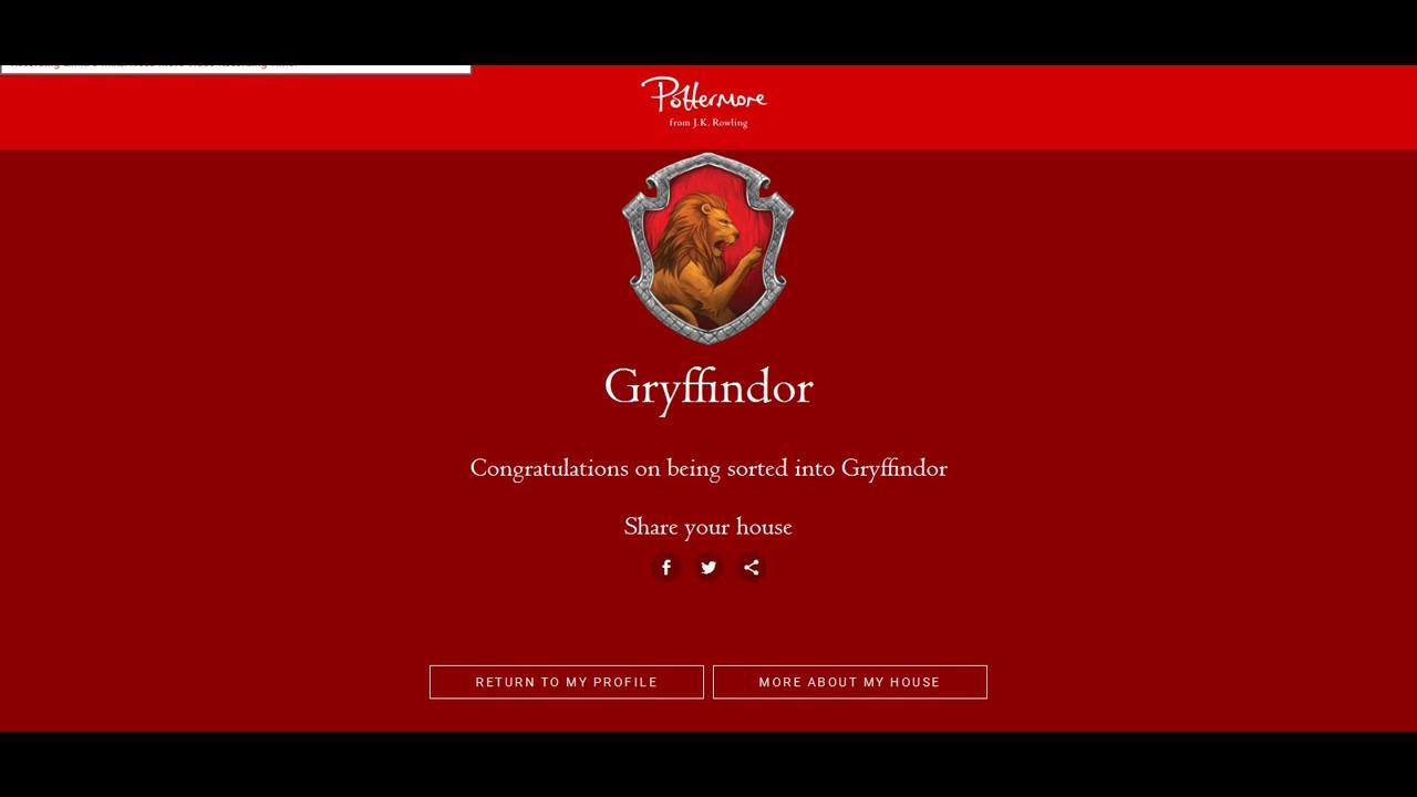 Pottermore Test Haus