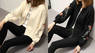 Women embroidered sweater long sleeve cardigan coat Review   Best Cardigan For Women Fashion 2018