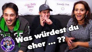 WAS WÜRDEST DU EHER...? | peinlich und verrückt! | FAMILY FUN