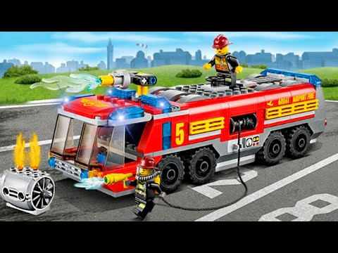 The Red Fire Truck with The Police Car 2 | Emergency Cars Cartoon for kids