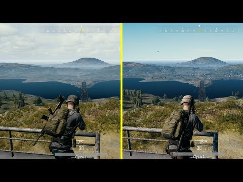 PlayerUnknown's Battlegrounds / PUBG Xbox One S vs Xbox One X Graphics Comparison