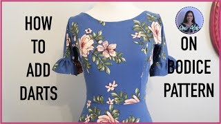 HOW TO ADD DARTS ON A BODICE PATTERN OR ON A FABRIC, SEWING PROJECT FOR BEGINNERS, EASY SEWING GUIDE