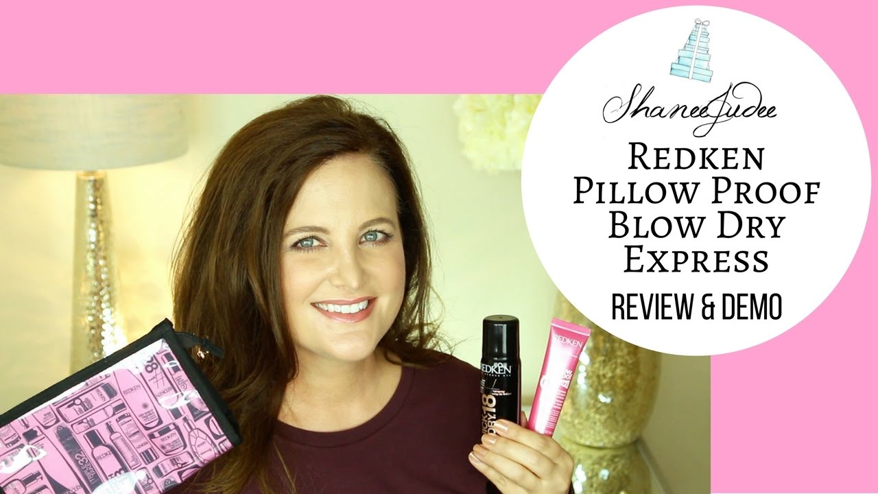 redken pillow proof blow dry express treatment primer cream review demo shaneejudee