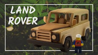 How To Make a Wooden Toy Land Rover Defender | Wooden Miniature  | Stopmotion - Wooden Creations