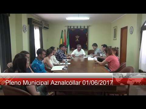 Pleno Municipal Aznalcollar 01 06 2017