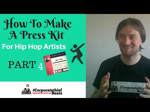 How To Make A Press Kit For Hip Hop Artists (rap artist press kit example)🔥👈 ✅