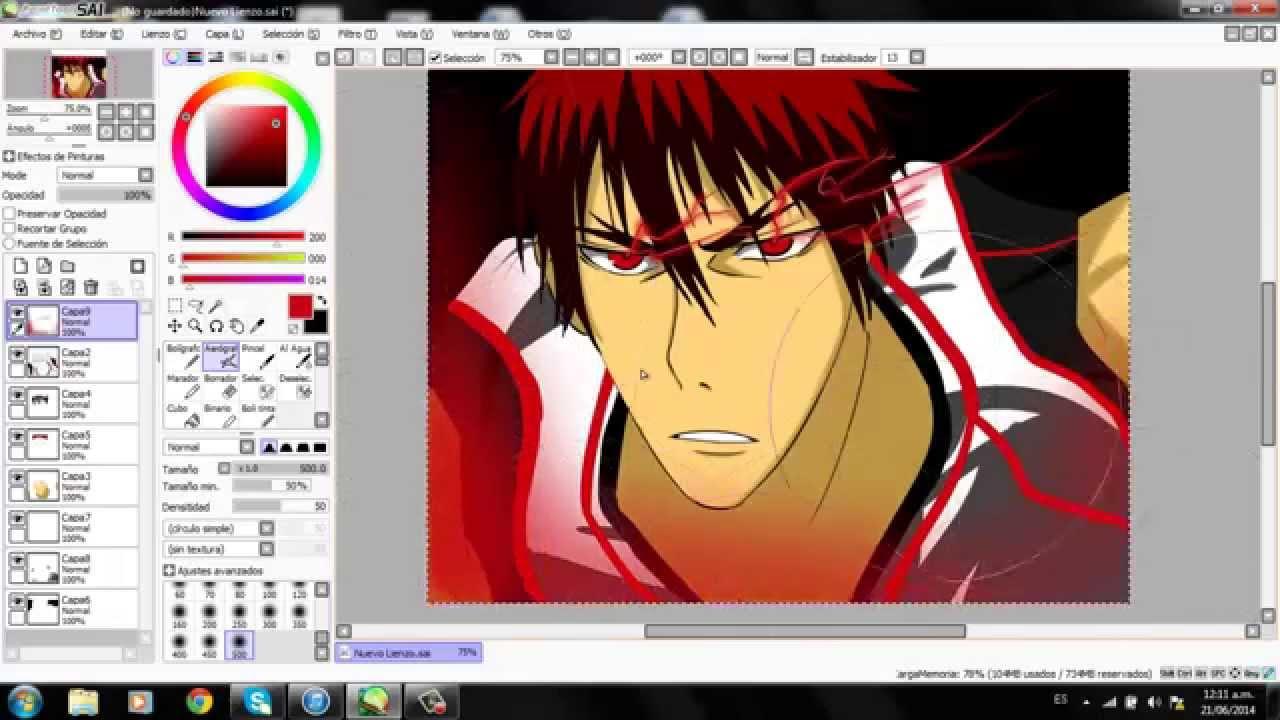 kagami taiga zone speedart youtube