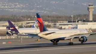 Delta, JetBlue, Alaska, and United - Runway 15 Arrivals @ PANC