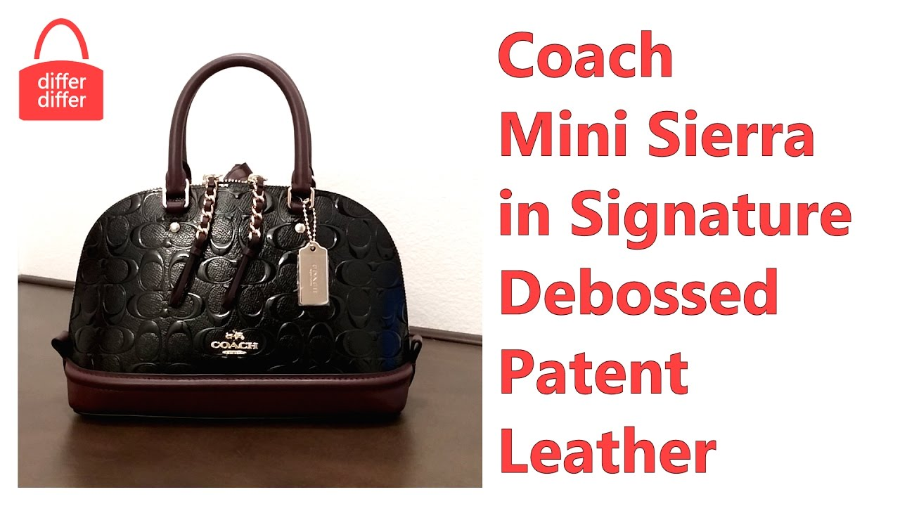 3b4085186f38 Coach Mini Sierra Satchel in Signature Debossed Patent Leather 55450 ...