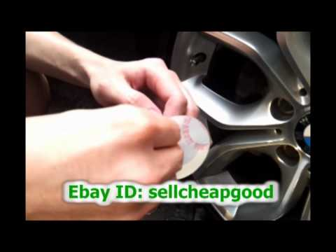 How to apply wheel center cap cover decals stickers